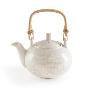 Чайник заварочный с ручкой из ротангаLOKJI La Redoute Interieurs. Цвет: белый