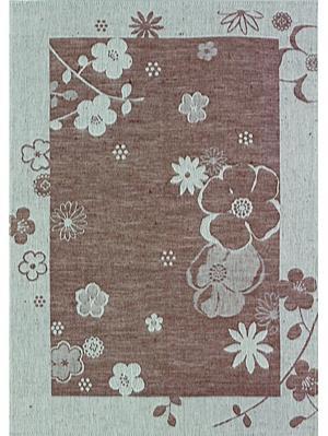 Полотенце Евдокия Белорусский Лен. Цвет: серый, коричневый