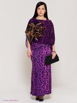 Платье VERDA. Цвет: фиолетовый, черный