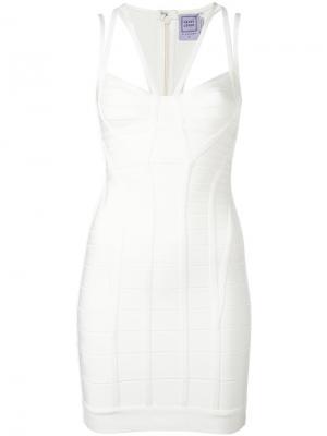 Платье Gia Hervé Léger. Цвет: белый