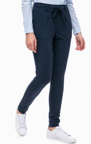 Синие зауженные брюки с карманами TOM TAILOR. Цвет: синий