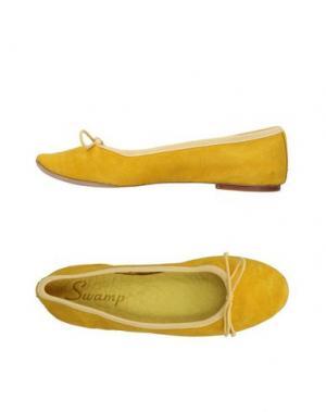 Балетки SWAMP. Цвет: желтый