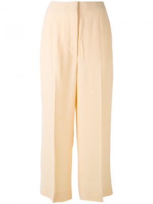 Укороченные брюки Sportmax. Цвет: телесный