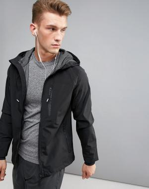 Blend Спортивная куртка с капюшоном Active. Цвет: черный