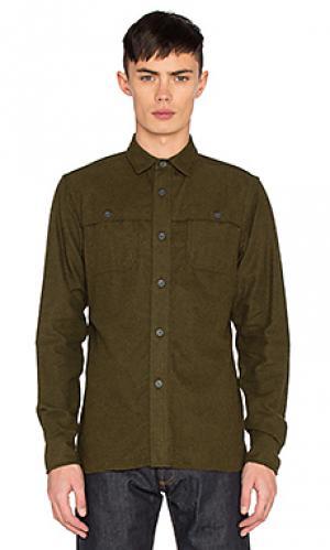 Рубашка hunting 3sixteen. Цвет: зеленый