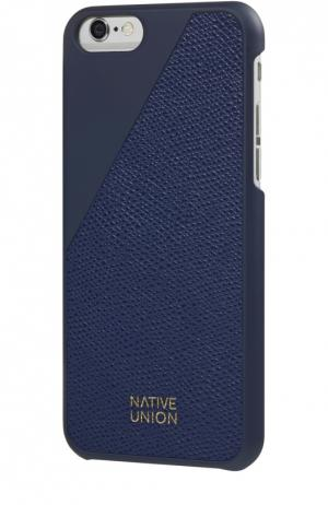 Чехол Clic Leather для iPhone 6/6s Native Union. Цвет: синий