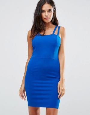 Wal G Платье мини на бретельках. Цвет: синий