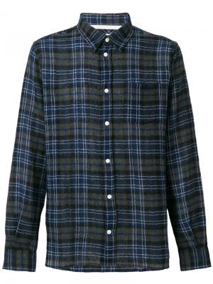 Плетеная рубашка свободного кроя Hans Norse Projects. Цвет: синий