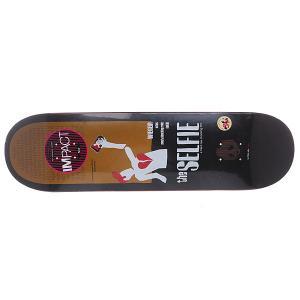 Дека для скейтборда  Movie Poster Sequel Impact Plus Wieger 31.8 x 8.38 (21.3 см) Enjoi. Цвет: черный,белый,коричневый