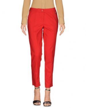 Повседневные брюки KORALLINE. Цвет: красный