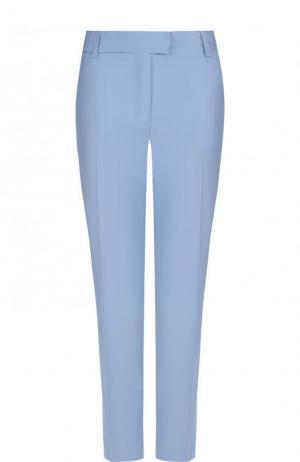 Укороченные шерстяные брюки с карманами Paul&Joe. Цвет: светло-голубой