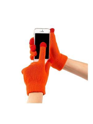 Перчатки GREZZO. Цвет: оранжевый
