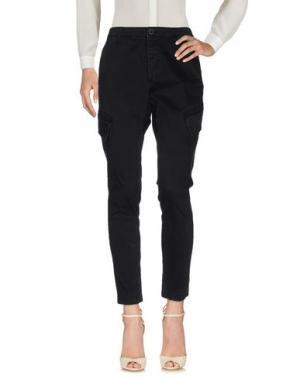 Повседневные брюки PEPEROSA. Цвет: черный