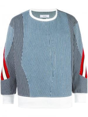 Джемпер с контрастными полосками Facetasm. Цвет: синий