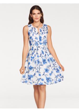 Платье Ashley Brooke. Цвет: белый/синий
