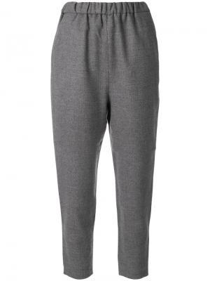 Укороченные брюки с эластичной талией Enföld. Цвет: серый