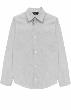 Хлопковая рубашка прямого кроя Dal Lago. Цвет: серый