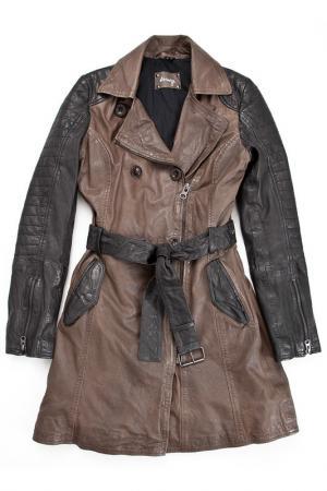 Пальто MAZE. Цвет: black, grey