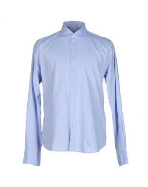 Pубашка YES ZEE BY ESSENZA. Цвет: небесно-голубой