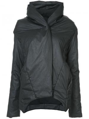 Asymmetric padded jacket Barbara I Gongini. Цвет: чёрный