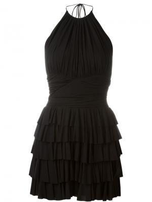Платье с петлей-халтер Balmain. Цвет: чёрный