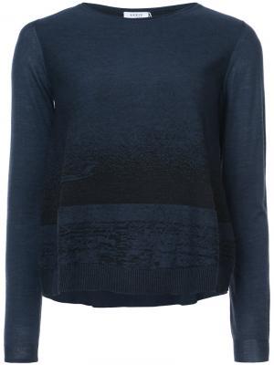 Двухцветный свитер Akris Punto. Цвет: синий