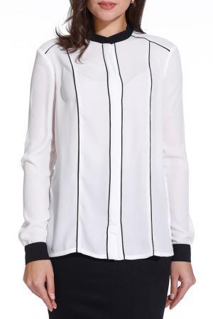Блузка Gloss. Цвет: белый, черный
