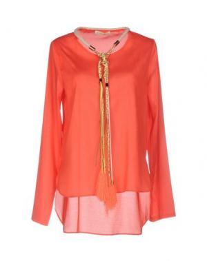 Блузка EYEDOLL. Цвет: коралловый