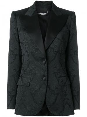 Жаккардовый блейзер Dolce & Gabbana. Цвет: чёрный