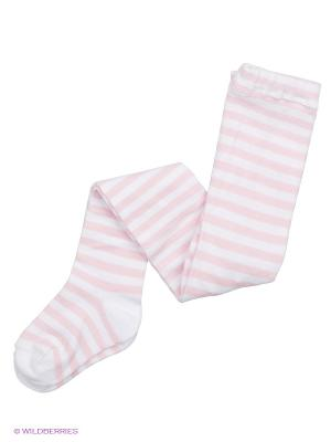 Колготки Розовая полоска Luvable Friends. Цвет: бледно-розовый, белый