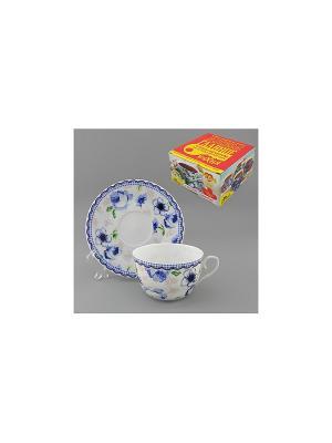 Набор чайный 2 пр. КАНТРИ-БЛЮ LARANGE. Цвет: белый
