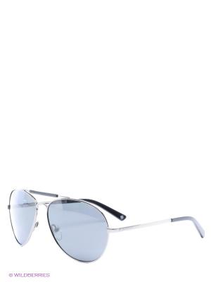 Солнцезащитные очки Polaroid. Цвет: серый, серебристый