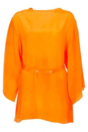 Платье Versace. Цвет: оранжевый