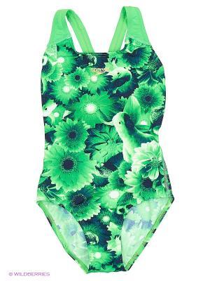 Слитный купальник Speedo. Цвет: зеленый