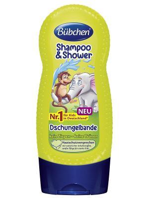 Шампунь для мытья волос и тела Джунгли зовут, 230 мл. Bubchen. Цвет: зеленый