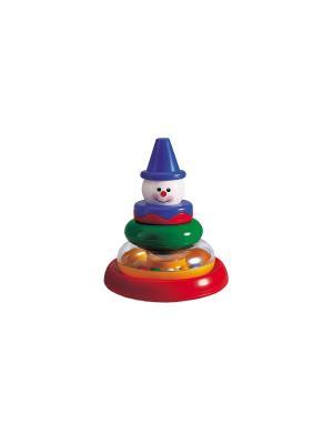 Пирамидка Клоун Tolo. Цвет: синий