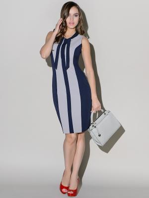 Платье Stets. Цвет: синий, серый