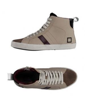 Высокие кеды и кроссовки D.A.T.E. KIDS. Цвет: серый