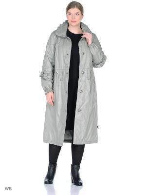Пальто Астрид VIKO. Цвет: светло-серый