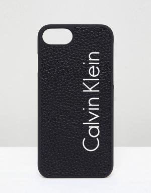 Calvin Klein Чехол для Iphone 7 с логотипом. Цвет: черный