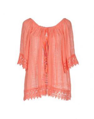 Блузка AU SOLEIL DE SAINT TROPEZ. Цвет: коралловый