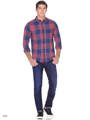 Рубашка 1PKT Wrangler. Цвет: красный, черный