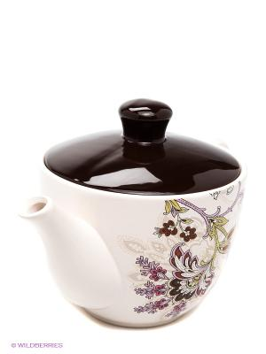 Чайник заварочный, 920 мл LORAINE. Цвет: молочный, коричневый