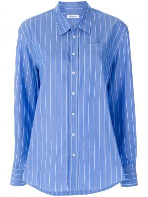 Приталенная рубашка в полоску Dondup. Цвет: синий