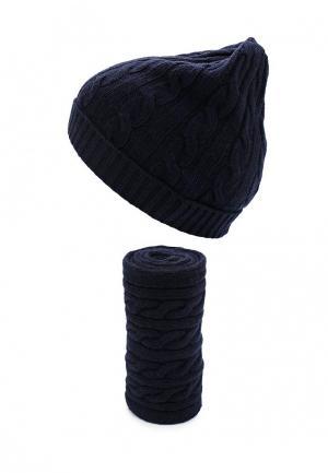 Комплект шапка и шарф United Colors of Benetton. Цвет: синий