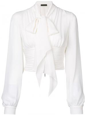 Блузка с бантом Plein Sud. Цвет: белый