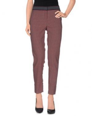 Повседневные брюки TERESA DAINELLI. Цвет: красный
