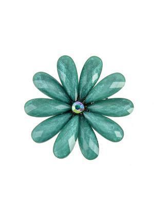 Брошь BLAGOY ART. Цвет: серо-зеленый