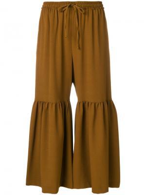 Расклешенные брюки Moroccan See By Chloé. Цвет: коричневый