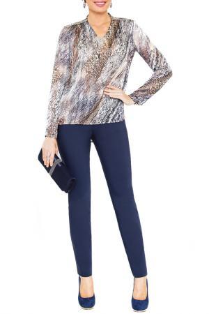 Блузка E.LEVY. Цвет: серый